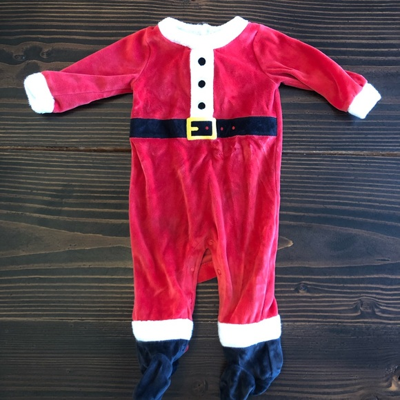 New Carter/'s Santa Suit 12m One Piece Holiday Christmas